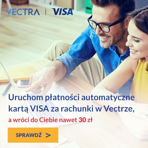 uruchom płatności automatyczne kartą visa za rachunki w Vectrze